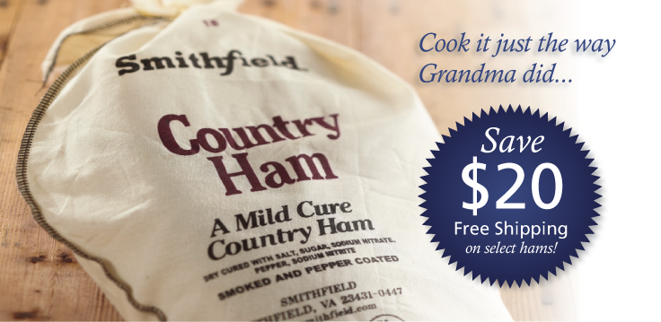 Country Ham in Cloth Sack