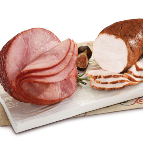 Boneless Spiral Sliced Ham & Fried Turkey Breast Combination
