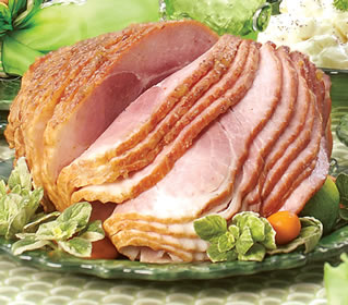 Honey Cured &amp; Honey Glazed Spiral Sliced Smoked Ham