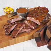 Duroc Dry Rubbed St. Louis Style Rack of Ribs, FULLY COOKED, 2 racks